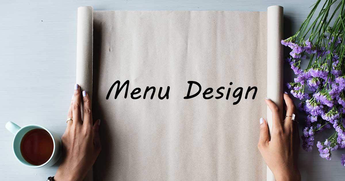 การออกแบบเมนู