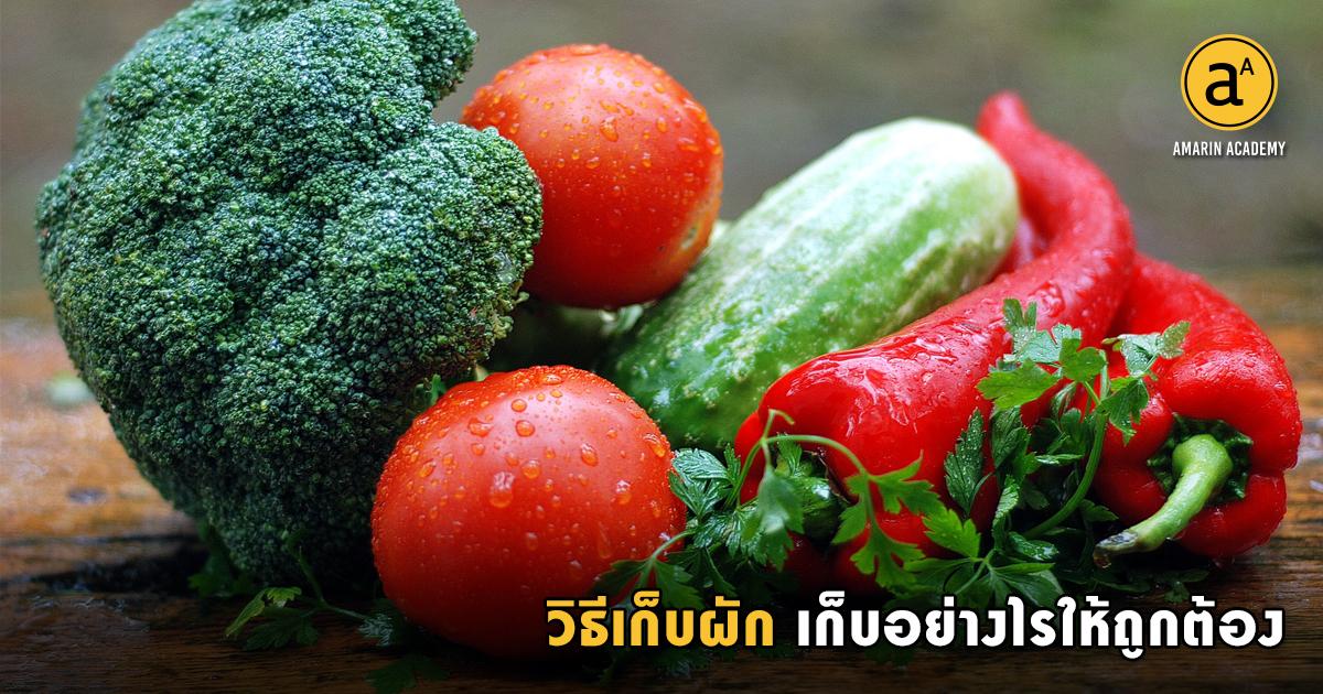วิธีเก็บผัก